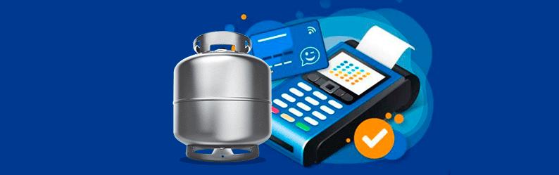 Aplicativo para comprar botijão de gás através do cartão virtual Caixa Tem