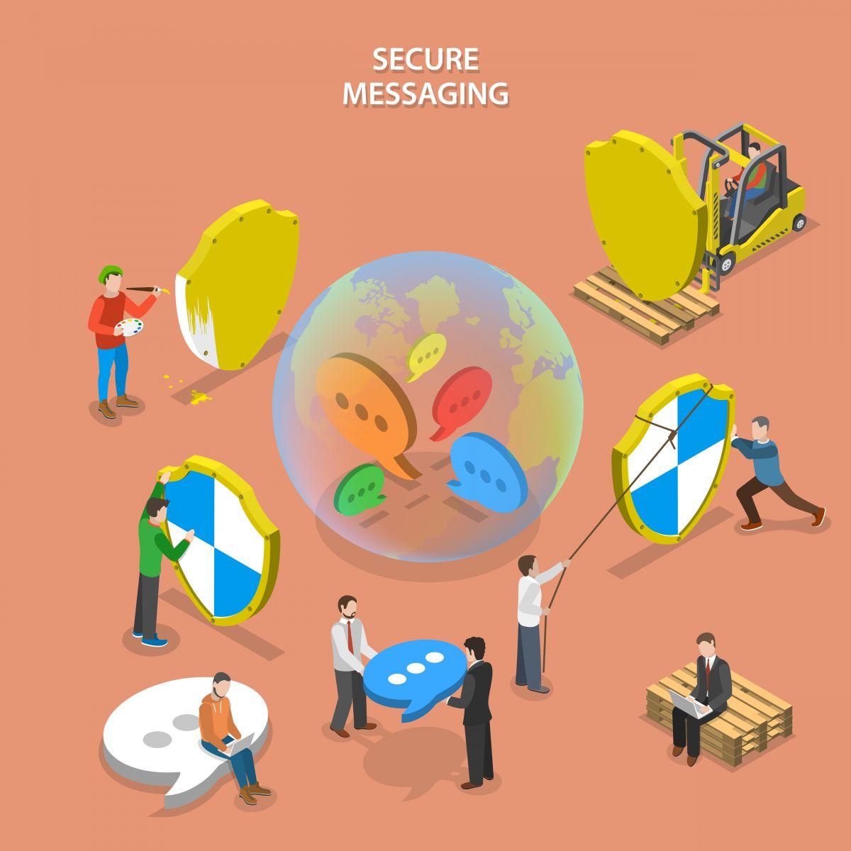 ilustração de um ecommerce seguro