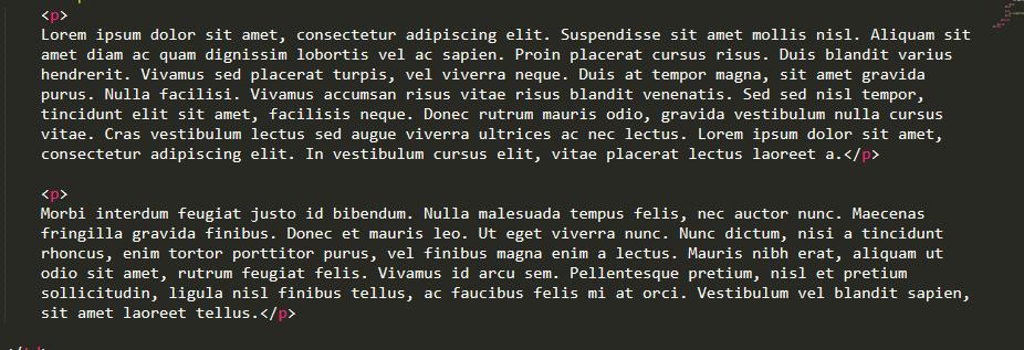 código html com tag p