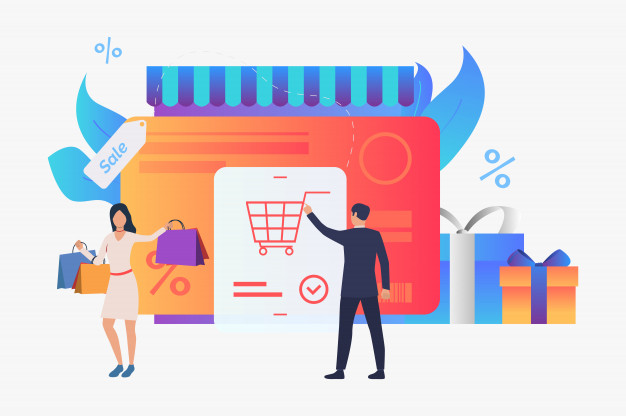 loja virtual entregando produto