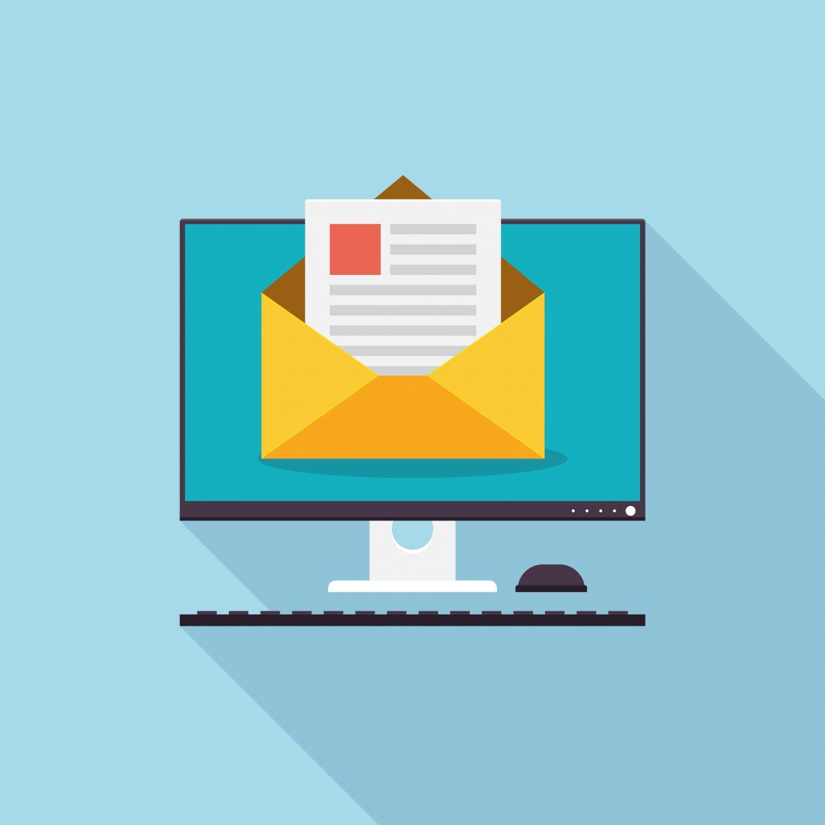 email marketing recebido e aberto
