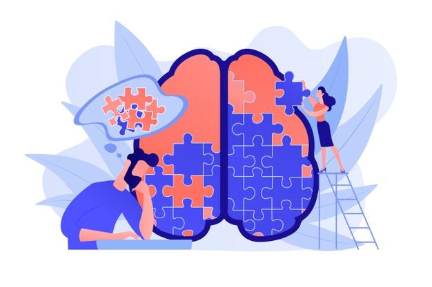 arte de gatilhos mentais em forma de quebra cabeça