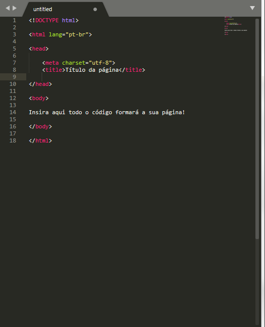 estrtura inicial de html