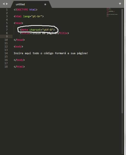 elemento meta em html