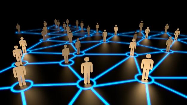 arte representando marketing de relacionamento e network