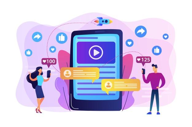 arte de smartphone notificando conteúdos