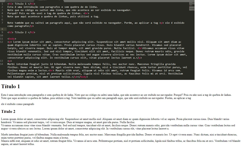 html exemplo de uso tag body